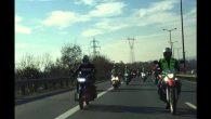 MUHAFAZAKAR MOTORCULAR TAZİYE İÇİN ARİFİYE'YE GELDİ