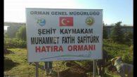 ŞEHİDİMİZ KAYMAKAM MUHAMMED FATİH SAFİTÜRK İÇİN OF'TA HATIRA ORMANI