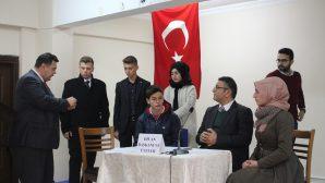 Arifiye Fen Lisesinden Rahmi Can Şeşen İl Öğrenci Meclis Başkanı Seçildi