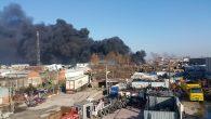 Sanayide Palet fabrikasında yangın