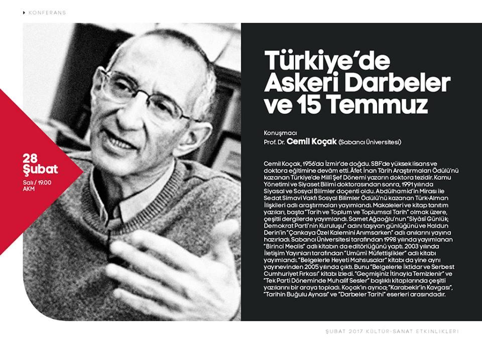 'Türkiye'de Askeri Darbeler ve 15 Temmuz'
