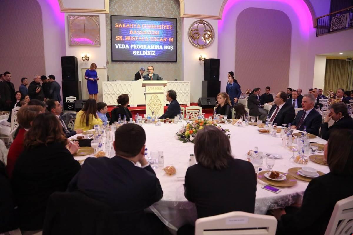Vali Coş, Sakarya Cumhuriyet Başsavcısı Onuruna Düzenlenen Veda Yemeğine Katıldı