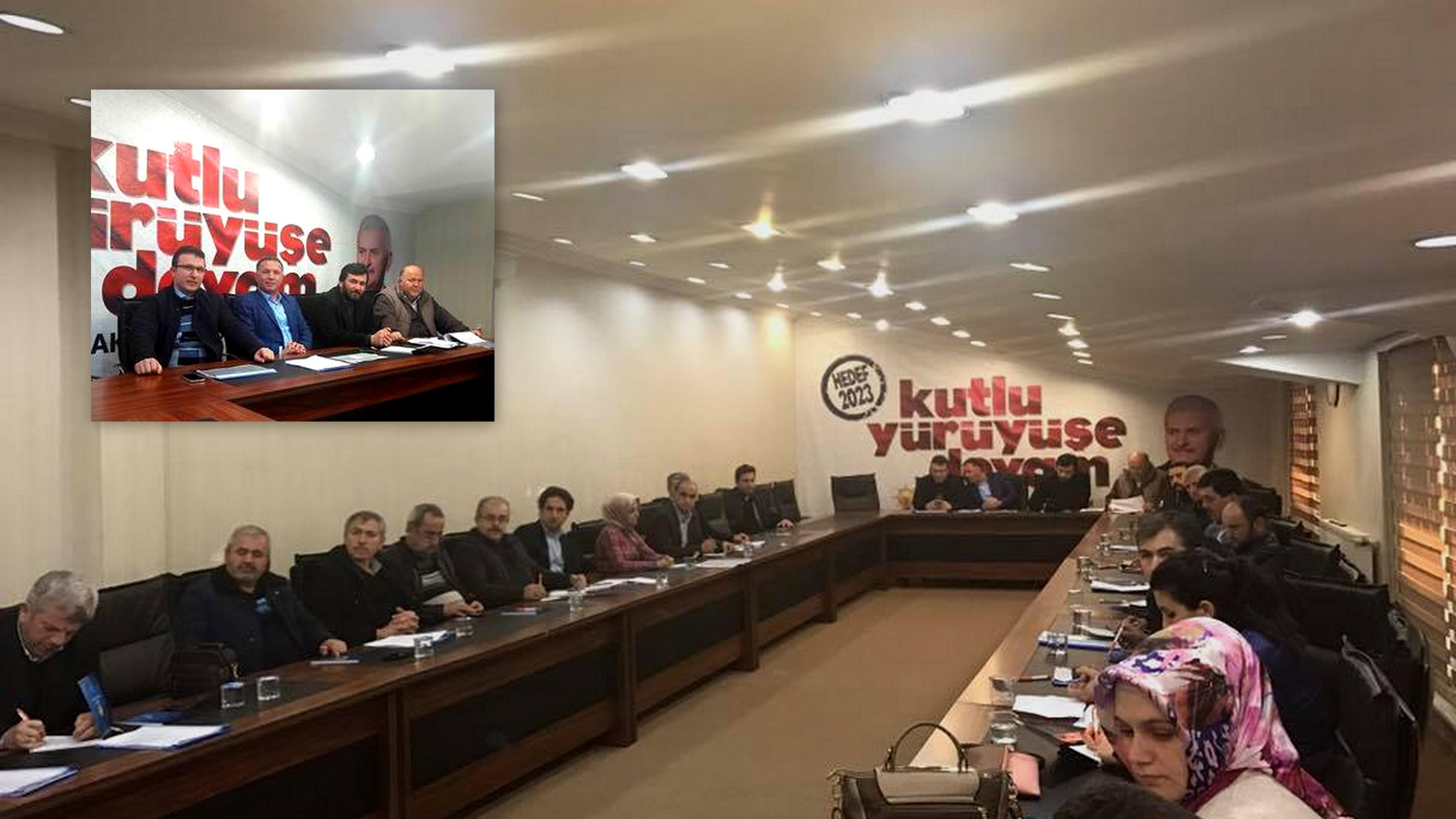 İlçe Seçim İşleri Ve SKM Başkanları toplandı