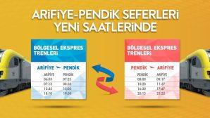 ARİFİYE-PENDİK SEFER SAATLERİ YENİLENDİ