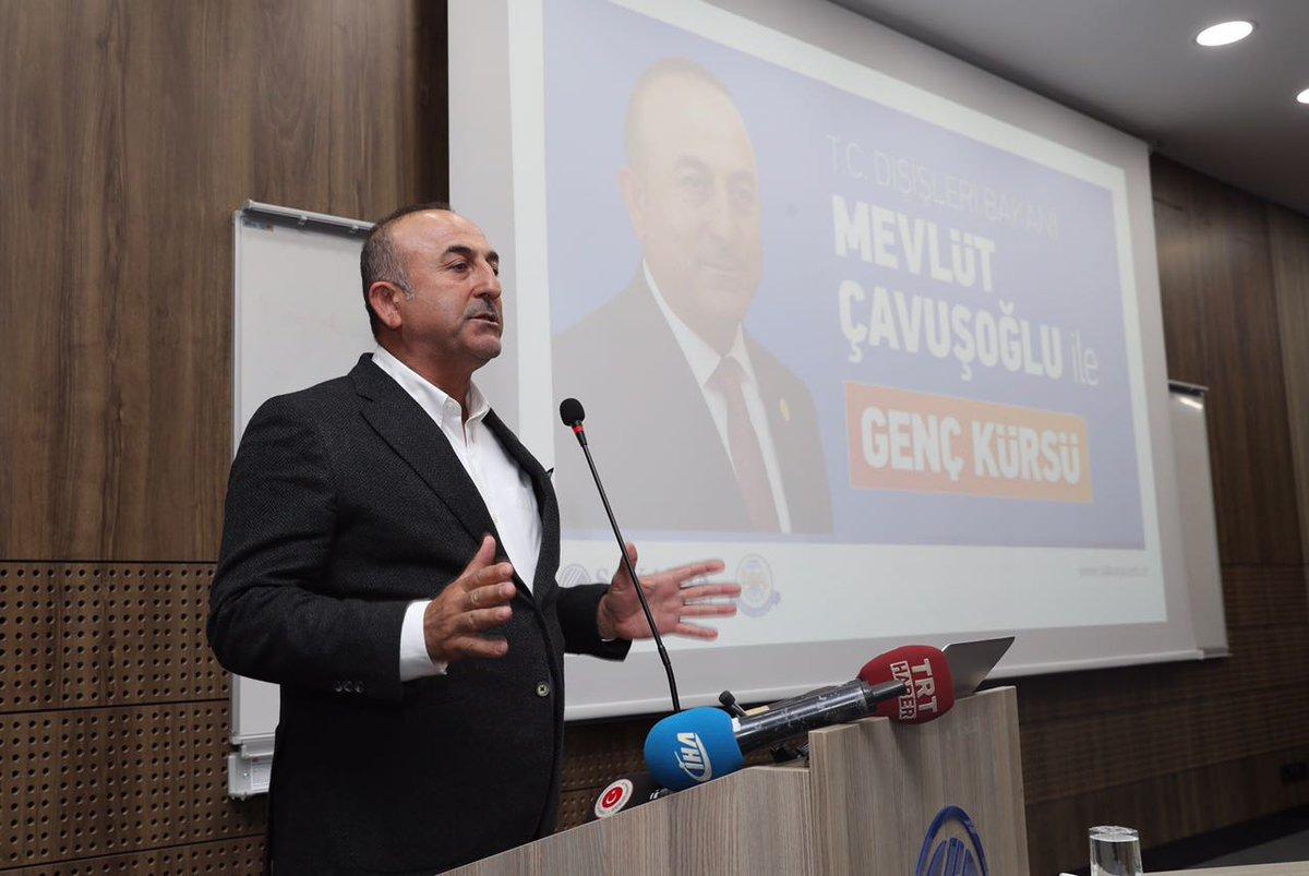 Bakan Çavuşoğlu SAÜ Genç Kürsü'de Konuştu