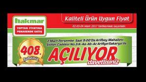 HAKMAR 408.ŞUBESİ ARİFİYE'DE AÇILIYOR