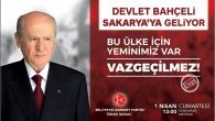 MHPGENEL BAŞKANI DR.DEVLET BAHÇELİ BUGÜN SAKARYA'DA