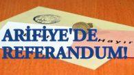 Arifiye'de Referandum sonuçları