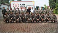 Jandarma Kızılay'a kan bağışında bulundu.