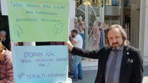 Baro Başkanından Stad Arazisinin yeşil kalmasına destek