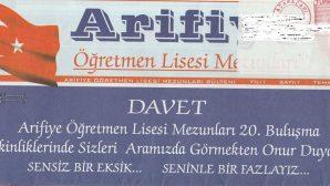 Arifiye Öğretmen Lisesinin adı gitti ,hatıraları kaldı yadigar