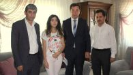 SGK İl Müdürü Erhan Çavuş Şehit evini ziyaret etti.