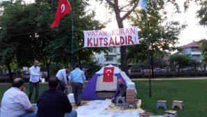 15 Temmuz Demokrasi nöbetini iftar masasında sürdürdüler