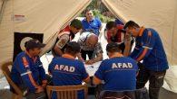 AFAD ekipleri tatbikat eğitiminde