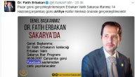 Erbakan Vakfının Arifiye'de ertelen iftarı Çarşamba günü
