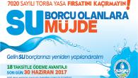 Su Borcu Olanlara Torba Yasa Müjdesi