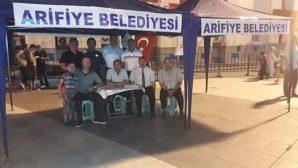 Arifiye Belediyesi Demokrasi meydanında hizmette