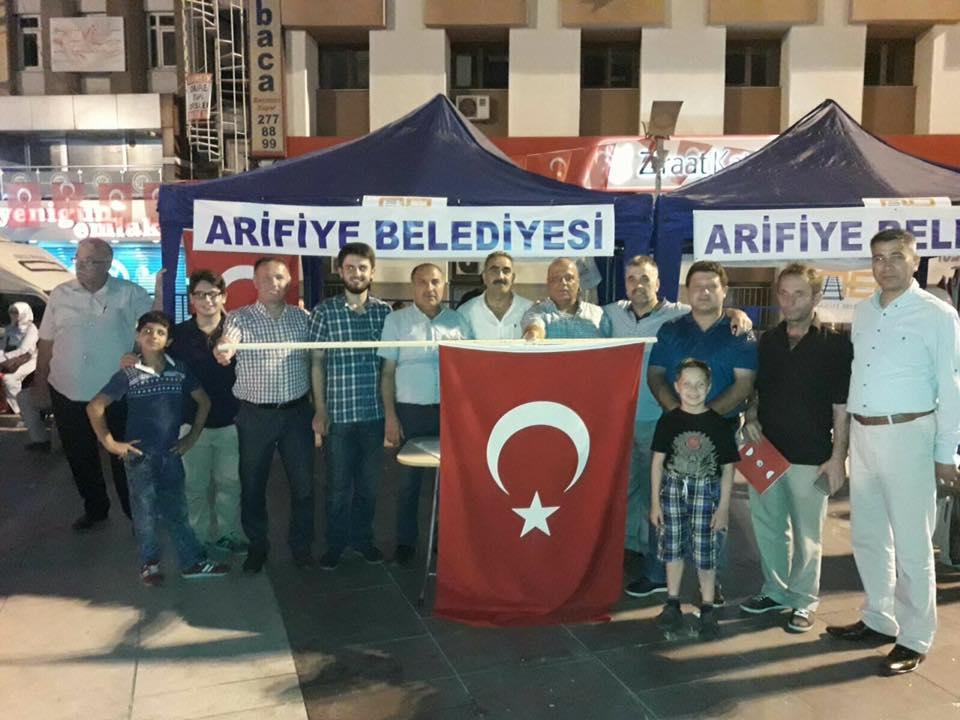 Arifiye'liler Demokrasi Nöbetine devam ediyor