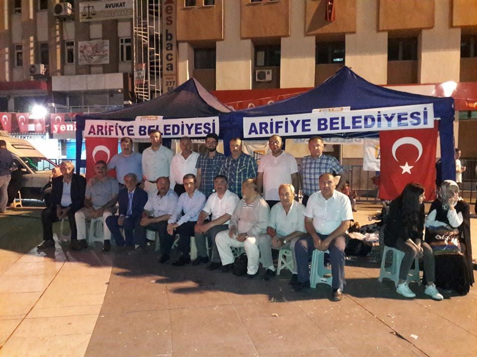 Arifiye'liler bitmeyen vatan sevdası ile nöbete devam ediyor