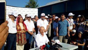 Adalet yürüyüşünün 17'nci gününe basın açıklaması ile başladı