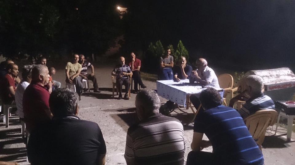 Ahmediye Mahallesi istişare için toplandı