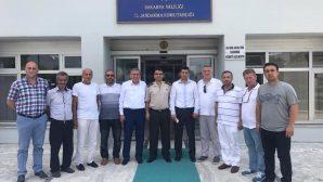 SASKF'den İl Jandarma Alay komutanına ziyaret
