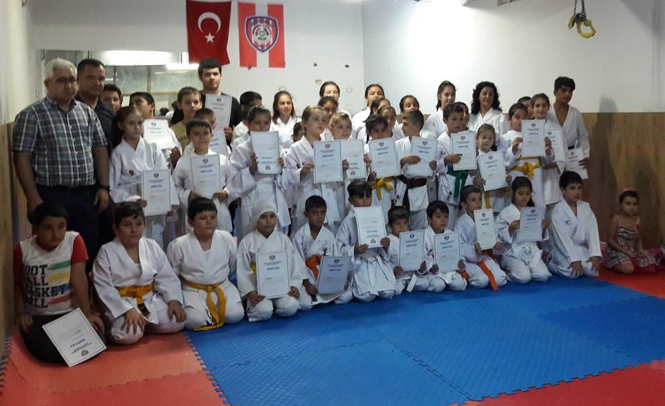 Arifiye Halk Eğitim Merkezi Yaz Dönemi Karate Kursları tamamlandı.