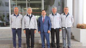 Vali Balkanlıoğlu'ndan Toyota CEO'su Hiroshi Kato'ya iade-i ziyaret