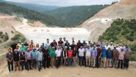 SASKİ Mühendisleri  Akçay Baraj Projesi'ni ziyaret ettiler