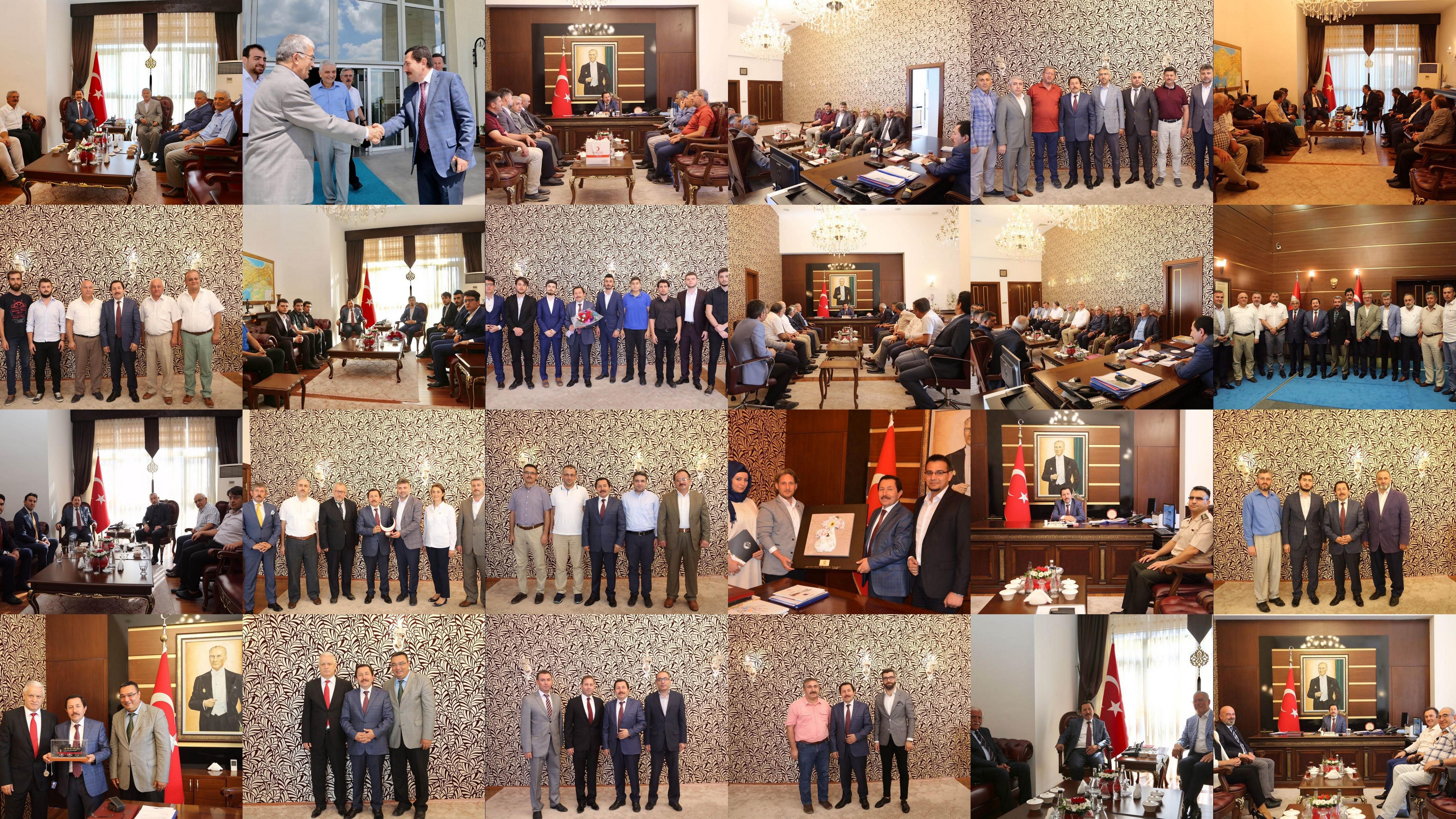 Vali İrfan Balkanlıoğlu'na her kesimden tebrik ziyaretleri devam ediyor.