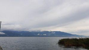 Sapanca Gölü üzerinden geçen bulutlar görüntülendi