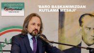 ZAFER KAZAN'DAN ARİFİYE HABER'E KUTLAMA