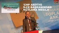 ALİ GÖKPINAR'DAN ARİFİYE HABER'E KUTLAMA