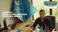 DUHAN ÖZTÜRK'TEN ARİFİYE HABER'E KUTLAMA