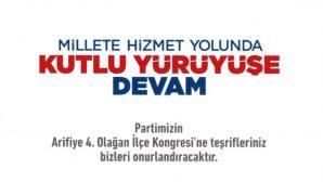 Arifiye Ak Parti'de kongre zamanı