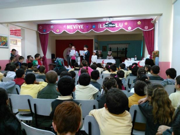 Neviye İlkokulunda Kızılay Haftası  Kutlaması