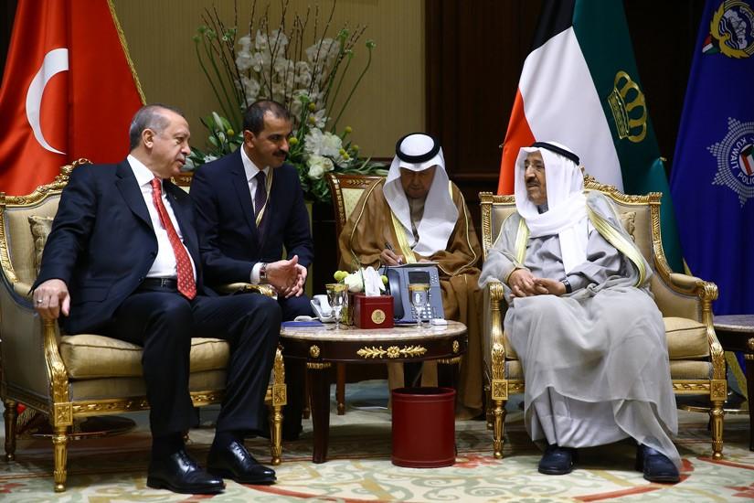 Cumhurbaşkanı Erdoğan, Kuveyt Emiri El-Sabah ile Görüştü