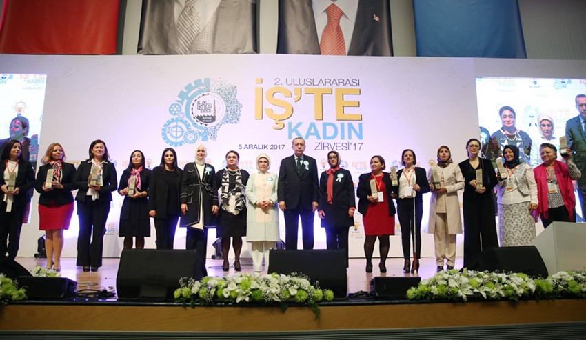 Cumhurbaşkanı Erdoğan 2. Uluslararası İş'te Kadın Zirvesi'nde konuştu