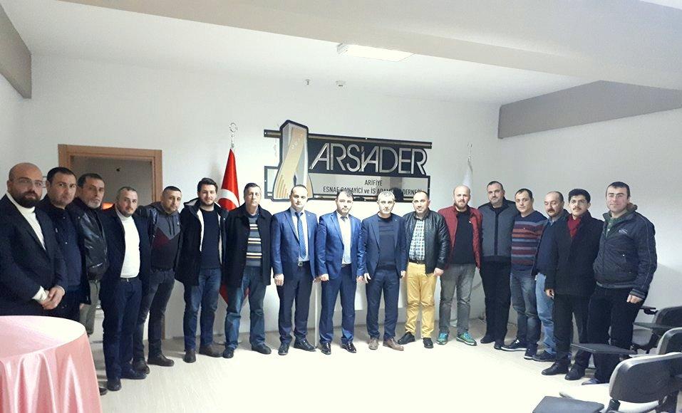 MHP Arifiye İlçeden ARSİADER'e iade-i ziyaret