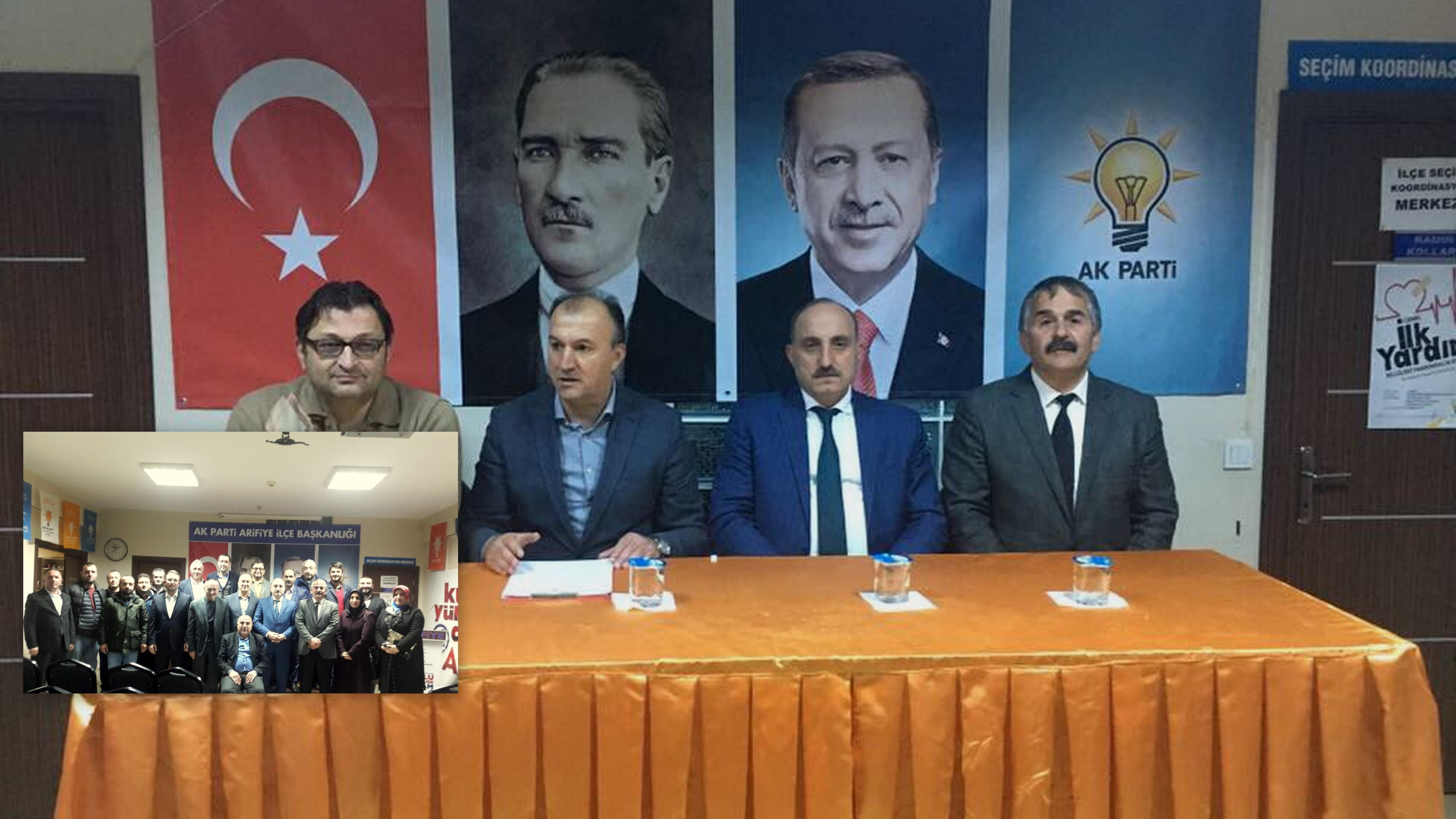 İl Başkanı KILIÇ,Arifiye İlçe yönetim toplantısına katıldı