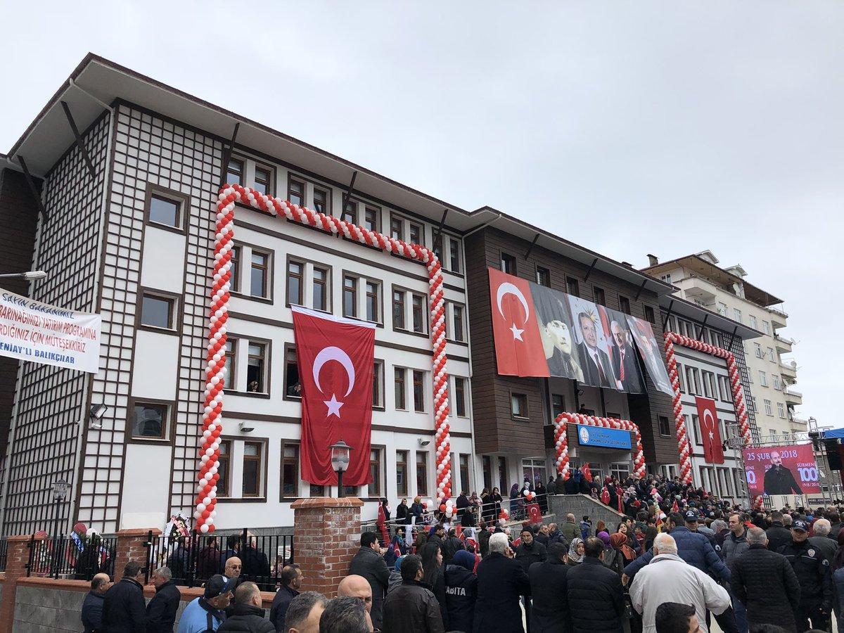 Sürmene'de Şehit Kaymakam Muhammet Fatih Safitürk İlköğretim Okulu açıldı