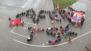 Arifiye Hacıköy Ortaokulu ve İlkokulu Öğrencilerinden Afrin'e selam