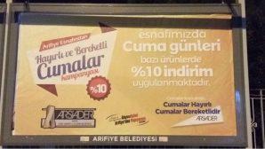 """ARSİADER'den """"HAYIRLI VE BEREKETLİ CUMALAR """" Kampanyası"""