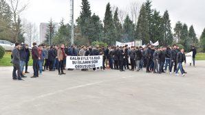 Sakarya Üniversitesi'nden Zeytin Dalı Harekatına Destek Yürüyüşü