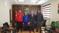Avrupa Tekvando Şampiyonu Sporcularımızdan  Kaymakamımıza Ziyaret…