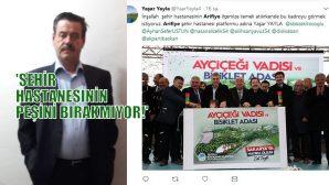 """YAŞAR YAYLA'NIN DERDİ """"ARİFİYE'YE ŞEHİR HASTANESİ"""""""