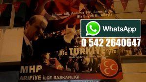 MHP Arifiye İlçeden Whatsapp İrtibat hattı
