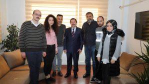 Vali Balkanlıoğlu'nun Basın Kuruluşlarına Ziyaretleri Sürüyor