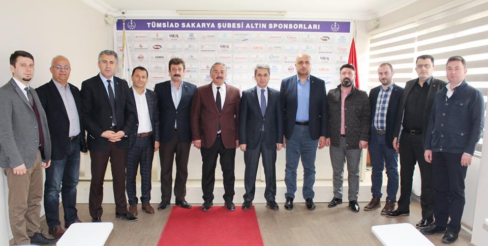 Arifiye Kaymakamı Yazıcı ve Belediye Başkanı Karakullukçu'dan TÜMSİAD'a ziyaret…