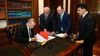 Cumhurbaşkanı Erdoğan Adaylık Muvafakatnamesini imzaladı